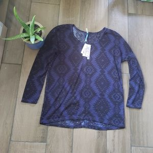 Wallflower Favotite T Southwest Geo long sleeve M